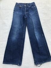 DOLCE GABBANA Men's Baggy Jeans Sz 28 x 42 Front Button Down Loose