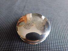 Boite a pilules argent massif 925 à décor de couronne et armoiries