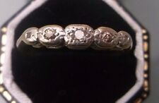 Women's Vintage Gold 18ct Gold Diamond Ring Size M 1/2 Weight 2.1g Stamped