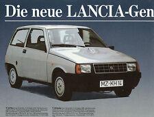 Lancia Prospekt IAA 1984 Auto Autoprospekt Broschüre Y10 Prisma A112 Delta Thema