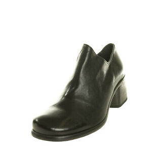 RRP €195 1725.A Leather Booties EU 36 UK 3 US 6 Asymmetric Topline Made in Italy