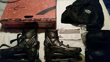Rollerblade Viablade Hwy 7 Size 12.5 Plus Elbow and Knee Pads and Carry Bag