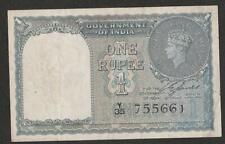 1940 INDIA 1 RUPEE NOTE