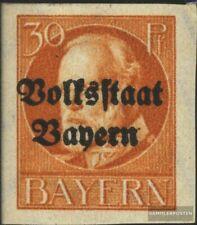 Bayern 123B postfrisch 1920 König Ludwig mit Aufdruck