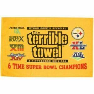 Pittsburgh Steelers Myron Cope Terrible Towel-You Pick Black,Pink,Yellow,Vintage