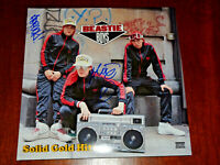 BEASTIE BOYS X2 SIGNED AUTOGRAPHED SOLID GOLD HITS  LP VINYL RECORD MIKE D ADAM