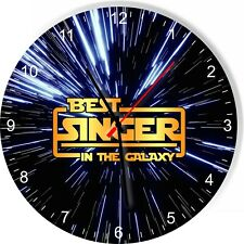 Best Singer in the Star Galaxy Space Kitchen Living room Wall Clock