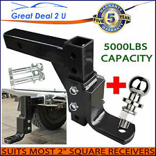 "6000LBS Adjustable Tow Bar Ball Mount Tongue Hitch 4WD 2"" RECEIVERS HEAVY DUTY"