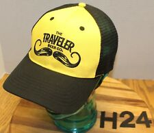 THE TRAVELERS BEER COMPANY HAT BLACK/YELLOW SNAPBACK MESH BACK VGC H24