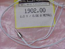 Lot x2 : Ampoule Lampe Luciole 6v 60mA 0.06A Métal  ~ 4 * 14mm  réf:1902.00