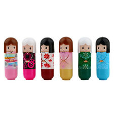 Lovely Lipstick Kimono doll Pattern colorful Girl Makeup Lip Gloss Balm Lipstick