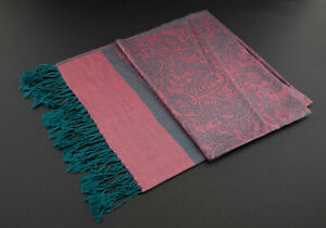 Scarf Stole Shawl Tagelmust 70 7/8x28 5/16in Nepal Cotton-Viscose Pink 9180