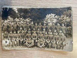 Postcard soldier group portrait Lancashire Fusiliers