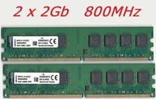 KIT 4Go DDR2 Mémoire RAM KINGSTON KVR 2 x 2Go pc2-6400 800mhz DIMM 240 pins PC