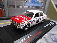 OPEL Ascona A Rallye Monte Carlo #16 1972 Ragnotti Radio Monte C IXO Altaya 1:43