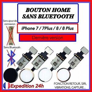 BOUTON HOME FONCTIONNEL+NAPPE IPHONE 7 7 PLUS 8 8 PLUS BLANC ARGENT NOIR OR ROSE