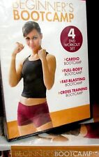 BEGINNER'S BOOTCAMP NEW! 4 DVD SET, CARDIO, FULL BODY WORKOUT, FAT BLAST, FIRM