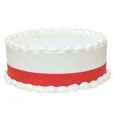 RED Icing Shimmer Ribbons Edible Image Decoration by Lucks - FREE Shipping