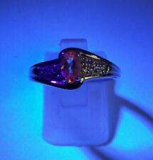 WOW ULTRA RARE ALEXANDRITE STERLING SILVER RING 0.37ct 100% GENUINE
