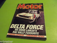 MOTOR MAGAZINE - LANCIA DELTA RALLY CAR  - NOVEMBER 1987 #c2