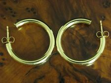 14kt 585 Yellow Gold Hoop Earrings/Earrings/ half Creole /3,4g / Ø 25,9mm