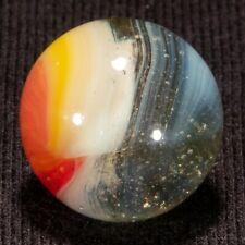 "GORGEOUS Vitro Agate Tri Lit Vintage Marble, .62"", Mint-, hawkeyespicks"
