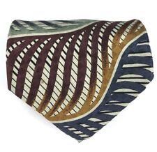Jhane Barnes Silk Tie Men's Multicolor Designer Necktie Abstract Striped - Japan