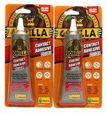 2x Gorilla Glue Contact Adhesive 100% Waterproof No-Run Formula Instant Bond.