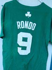 BOSTON CELTICS RAJON RONDO # 9  MEN'S TEE SHIRT SIZE LARGE COLOR GREEN