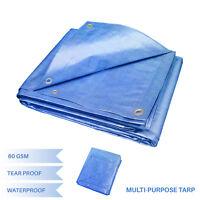 EK Blue Multi-purpose Waterproof Poly Tarp Cover Tent Shelter Camping Tarpaulin