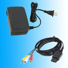 AC Adapter Power Supply With 6FT AV Cable Cord For N64 Nintendo 64 Brand New