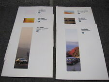 Lot of 6 Die BMW Sales Brochures Limousine Coupe Compact Touring Cabrio German