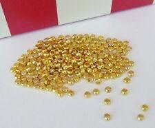 250 pce Gold Tone Barrel Crimp Beads 2mm