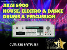 Akai S900, S950, S1000 - House & Dance Drums & Perc - Samples - 10x Floppy Disks