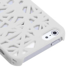 For Apple iPhone 5 5S SE Rubberized Bird Nest HARD Case Snap Phone Cover White