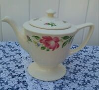 Homer Laughlin Vintage Coffee Pot/Teapot, Rose Pattern, BEAUTIFUL CONDITION
