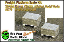 Strong Boxes (2pcs) NOS - Milepost Scale Models Yorke On3/On30/1:48