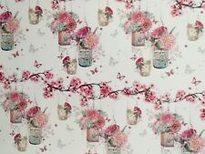 2 SHEETS OF QUALITY GIFT WRAPPING PAPER,PRETTY PINK FLOWERS & BUTTERFLIES,FEMALE