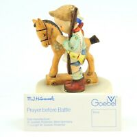 "Vintage Goebel Hummel Prayer Before Battle 20 TMK-6 4"" Tall boy with toy horse"