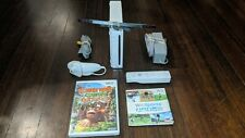 White Nintendo Wii System/Console With Wii Sports Donkey Kong Country Returns  +