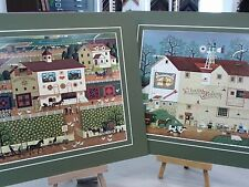 2 MATTED CHARLES WYSOCKI PICTURES AMISH FARM QUILTS VETERINARIAN ANIMALS BARN