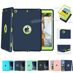 """Heavy Duty Protective Cover For iPad 6th 5th Gen 2018 9.7"""" Kids Shockproof Case"""
