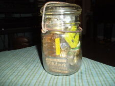 Vintage ATLAS E-Z SEAL Flip Top JAR W/ HOME & AUTO FUSE Steampunk Shelf Display