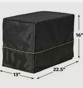 """Midwest Quiet Time Pet Crate Cover Black 22"""" x 13"""" x 16"""" Brand New&Fast Shipping"""