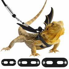 Reptile Bearded Dragon Harness Leash 3 Size Lizard Reptile Outdoor Harness Leash