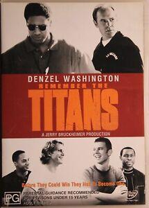 Remember The Titans DVD - Denzel Washington - FREE POST!