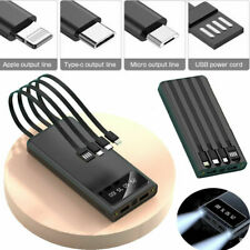 Portable 900000mah Power Bank USB Battery Charger for Cell Phone Built in 4cable