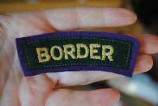 WW2 Border regiment shoulder title (glider)