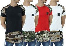 Time Is Money Mens Summer Army Camo Long Star T-Shirts New G Hip Hop Urban Era