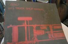 .1973  FORD  TRUCK  SHOP  MANUAL; VOL # 1; CHASSIS